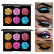 6 Colours Eye Shadow , zycShang Shimmer Glitter Eye Shadow Powder Palette Matte Eyeshadow Cosmetic Makeup Tools