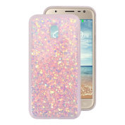 For Samsung Galaxy J3 2017 European Version Back Case, Galaxy J330 Bling Case Cover, Rosa Schleife 3D Creative Design Sparkle Luxury Bling Glitter Soft Acrylic Gel TPU Bumper Phone Case Protective Shell Skin Cases Covers for Samsung Galaxy J3 2017 Euro ..