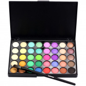 Eyeshadow Palette, Bestow Cosmetic Matte Eyeshadow 40 Colour Cream Makeup Palette Shimmer + Brush Set