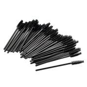 Shintop 100pcs Disposable Eyelash Brushes, Eyelash Mascara Wands Makeup Applicators