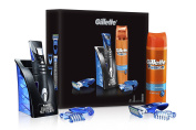 Gillette Fusion All Purpose Men's Styler Gift Set/Fusion Hydrating Men's Shaving Gel and 3 x Combs