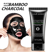 Wanshop® Blackhead Remover Mask, Purifying Peel Off Mask, Activated Bamboo Charcoal Blackhead Exfoliators Deep Clean Mask Black Mud Pore Removal Strip Mask For Face Nose Acne Treatment