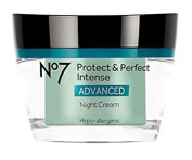 Boots No7 Protect & Perfect Intense ADVANCED NIGHT Cream 50ml With 15 SPF FOR VISIBLY YOUNGER LOOKING SKIN