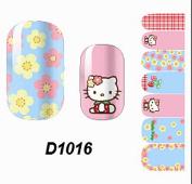 1 Pcs Satisfaction Self Fashion Polish Tips Water Transfer Nail Art Stickers Style Code D1016