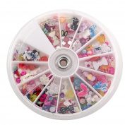 iMeshbean® Colourful 1200pcs Nail Art Tips Glitters Rhinestones Beautiful Decoration Manicure USA