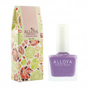Alloya Natural Non-Toxic, Five-free, Vegan formula Nail Polish, Peel Off & floral scented,011 Whispering In My Ear