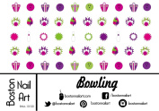 Bowling Waterslide Nail Decals - 50pc