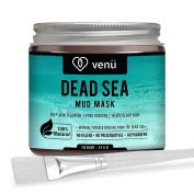 Organic Dead Sea Mud Mask - Face and Body Beauty Detox Treatment - Deep Skin Cleanser, Pore Reducer, Acne Clearer - Helps Remove Stretch Marks, Cellulitis and Wrinkles - by venü