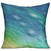 Blue And Yellow Square Stuffed 18 X 18 Accent Pillow