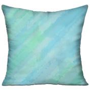 Blue Green Illustration Pattern Rat Square Stuffed 18 X 18 Accent Pillow