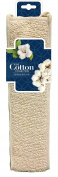 The Cotton Collection Exfoliating Back Scrub - Deep Exfoliating Cotton Back Scrub - Natural Materials Infused - Nourish Your Skin and Cleanse