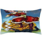 PaigeHamelf Vintage Halloween Pillow Covers Decorative Halloween Accent Pillows Pillowcase 33cm x 50cm