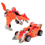 Deformation Dinosaur Chariot,Toy Vehicles ,Toy Cars,TUDUZ Brand New Cool Electric Omnidirectional Deformation Dinosaur Chariot With Music Light Eye Luminescence Kids Toys Gift Party Favours for Children and Adult