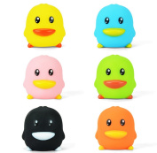 6 Pack Colourful Rubber Duck Squeaky Duck Bath Toys for Baby Kids Buyby High Quality