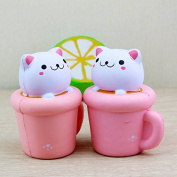 PriMI Creative Stress Reliever Squishy Squeeze Cup Cat Slow Rising Soft Toy