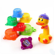 YINGER Baby Bathing Toys Playing Water Beach Water Spray Duck 8 Pieces