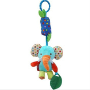 Cido Infant Baby Cute Bell Hanging Bell Animal Cartoon Fabric Soft Bed Stroller Plush Dolls Musical Mobile Baby's Room D