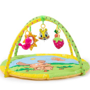 HTTMYY Baby Activity & Music Playmat Play Gym Crawling Pad Infant Mat for Newborns girls boys