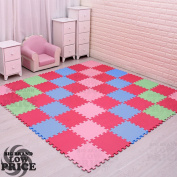 FB FunkyBuys® Kida Floor 30pc Multi Colour EVA Soft Foam 2.8sqm Mat Solid Puzzle Kids Play Area Gym Office Tiles