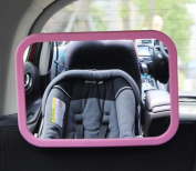Atefacr®Baby Car Mirror 360 Degree Adjustability Clear Safe Large Simple Back Seat Rear View Fixing Straps Curved glass View mirror