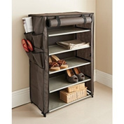 PAJEE™ Multi Purpose Storage Solution Canvas Non Woven Easy Assembly Storage Unit Grey