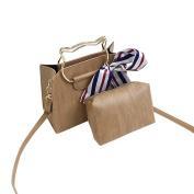Crossbody Bags,Handbag,TUDUZ 2Pcs Girls Women Ladies Fashion Elegant Retro Female Simple Shoulder Bag Crossbody Bag Handbag