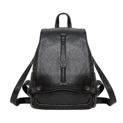 Meoaeo A Simple All-Match Leather Backpack Backpack