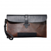 Beatsport Men Handbag Faux Leather Envelope Bag Long Clutch Retro Purse