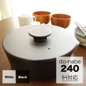 Ceramic Japan do-nabe 240 IH support pot 24 cm donabe down ve earthen pot with a lid both a pan Christmas