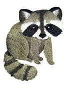"Nature weaved in threads, Amazing Baby Animal Kingdom [Baby Raccoon] [Custom and Unique] Embroidered Iron on/Sew patch [4.""4""] [Made in USA]"