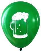 Beer Stein Latex Balloons (16 pcs) by Nerdy Words