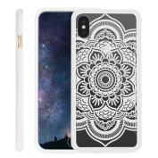 iPhone X Case NEEDOON Ultra-thin Plastic Transparent Flower Print Anti-scratch Protective Cover,15cm ,H