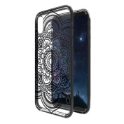 iPhone X Case NEEDOON Ultra-thin Plastic Transparent Flower Print Anti-scratch Protective Cover,15cm ,D