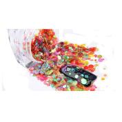 Nail Art Mini Round Thin Paillette Nail Glitter Sparkly Sequin Decorative DIY Colourful Nail Art Decoration
