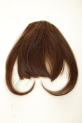 WIG ME UP ® - YZF-W1030-8 Hair Piece Clip-in Bangs Fringe long framing strands for perfect natural fit heat resistant fibre styleable medium brown