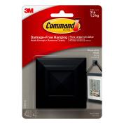 Command Decorative Knob Square, Medium, Slate, 1 Knob, 4 Strips/Pack