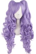 MapofBeauty Lolita Long Curly Clip on Ponytails Cosplay Wig