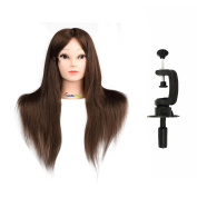 Hair Training Head Cosmetology Hairdressing, CoastaCloud Practise Training Hair Mannequin Manikin Dolls Head with Table Clamp