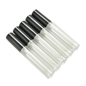 chiccharming 5 Pcs10ML Clear Empty Lip Gloss Tube Bottle Container