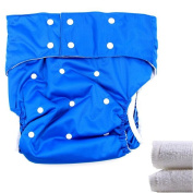 LukLoy - Teen / Adults Cloth Nappies Nappy with 2pcs Inserts for Incontinence Care -Dual Opening Pocket Washable Adjustable Reusable Leakfree