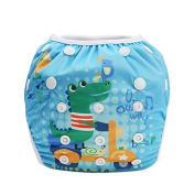 Hi Sprout Unisex Snap Reusable Baby Absorbent Swim Nappies Adjustable One Size,Baby Crocodile