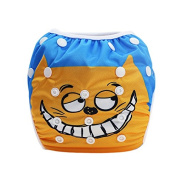 Hi Sprout Unisex Snap Reusable Baby Absorbent Swim Nappies Adjustable One Size,Funny Cat