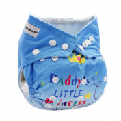 Hi Sprout Baby Reusable Absorbent Positioning Digital Printing Cloth Pocket Nappies,Daddy's Little Princess