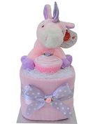 Cute 'Cupcakes & Unicorns' Mini Nappy Cake New Baby Girl . UK DELIVERY!