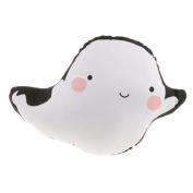 Baoblaze EU Styish Cartoon Throw Pillow/Kids Toy Bolster/Fluffy Sofa Car Back Cushion - Ghost