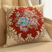 Baozengry The Living Room Sofa Bed Pillow Cushion And Pillow Headrest Backrest,45X45Cm (Pillow Core Sleeve),The Beautiful Red Pillow