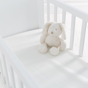 Silentnight Safe Nights Crib Fitted Sheet, Cream, Pack of 2