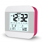 FAMICOZY Talking Alarm Clock with Smart Light and Snooze,7 Sounds to Choose,3 Alarms for 5/6/7 Days,Week Date Temperature,12/24hr Battery Operated Clock