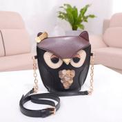 Kingken Fashion Owl Print Messenger Shoulder Bag Handbag Crossbody Purse for Women