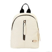 Stylish shoulders package pure colour minimalist mini-shoulder bags students backpack,A shoulders, White